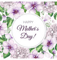 happy mother s day greeting card on floral vector image