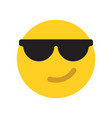 happy yellow emoji face vector image