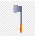 hiking axe icon cartoon style vector image