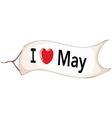 I love May vector image