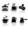 Icons coffee vector | Price: 1 Credit (USD $1)