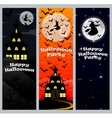 Invitation to a Halloween party Vertical banner vector image vector image