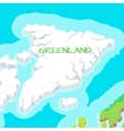 Isometric Map of Greenland Detailed vector image vector image