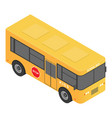 kids school bus icon isometric style vector image