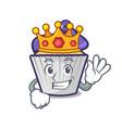 king blueberry cupcake mascot cartoon vector image