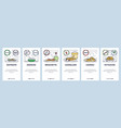 mobile app onboarding screens intalian food vector image