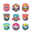mountain climbing - design logo badge set vector image vector image
