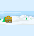 mountain wood house concept background flat style vector image