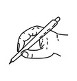 pencil icon doodle hand drawn or outline icon vector image vector image