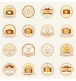 Photography labels and badges vector image vector image