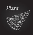 pizza slice isolated vector image vector image