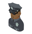 policeman african american icon isometric 3d vector image