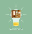 Room Ideas for a Wardrobe vector image