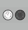 round wall clock vector image vector image