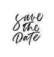 save date handwritten black lettering vector image vector image