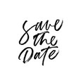 save the date handwritten black lettering vector image
