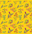 seamless cute floral pattern background flower vector image