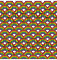 seamless rainbow pattern vector image vector image