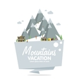 Ski resort in mountains winter time snow and fun vector image vector image