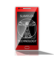 slaves technology vector image vector image