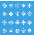 snowflakes line icon set vector image