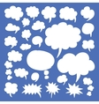 Speech Bubbles and Thought Clouds vector image