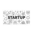 startup horizontal minimal outline banner vector image vector image