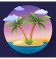 Summer Vacation Holiday Tropical Ocean Island With vector image vector image