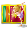 The flag of Sri Lanka and the gymnast vector image vector image