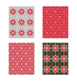 Trendy Scandinavian Seamless Pattern Set vector image