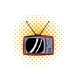TV antenna comics icon vector image vector image