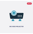 two color big video projector icon from vector image vector image