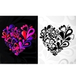 Two hearts background vector image