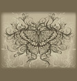 vintage butterfly tattoo vector image vector image