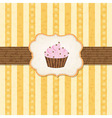 Vintage Cupcake Background vector image vector image