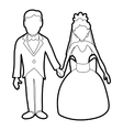 Wedding icon outline style vector image
