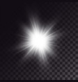 white sun shining brightly vector image vector image