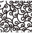 abstract seamless waving curling lines black and vector image