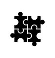 puzzle - jigsaw icon black vector image