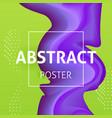 colorful liquid poster design vector image