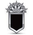 3d heraldic template with five pentagonal silver vector image vector image
