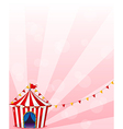 A red circus tent with banners vector image vector image