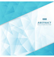 abstract blue geometric triangle lowpoly vector image vector image