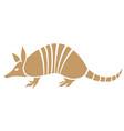 armadillo animal icon vector image vector image