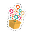 box question mark image vector image vector image