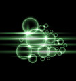 bubbles with light green color vector image vector image