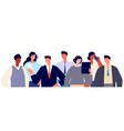 business team portrait people together women vector image vector image