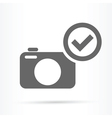 camera confirm symbol icon vector image vector image