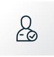 candidate icon line symbol premium quality vector image vector image