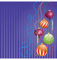Card with glossy balls vector image vector image